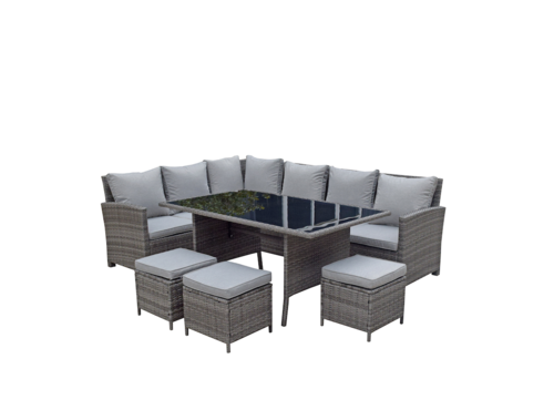 Seymour Patio Set Dining Sectional
