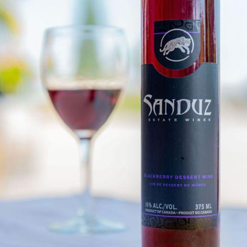 Image 1 for Sanduz Blackberry Dessert Wine 375ml