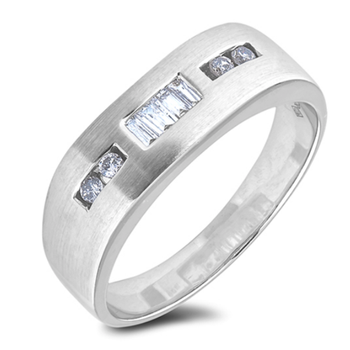 0.25 Carat TW Diamond Anniversary Band Ring in White Gold