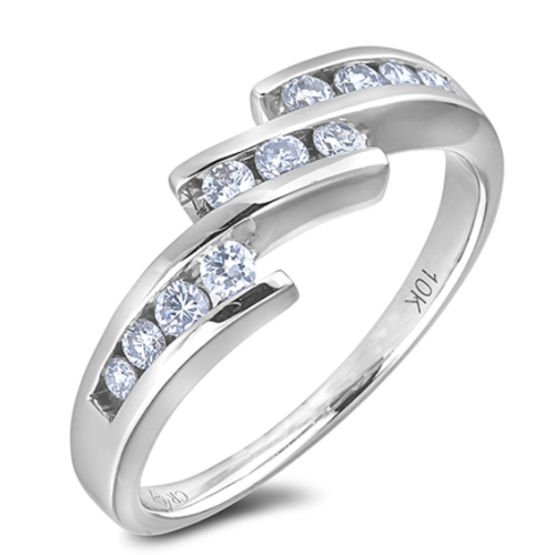 0.30 Carat TW Canadian Diamond Anniversary Ring in White Gold