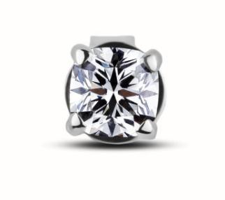 0.29 Carat Canadian Diamond Single Stud Earring in 18K White Gold