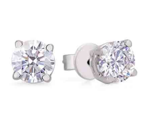 0.42 Carat TW Canadian Diamond Studs Earrings in White Gold
