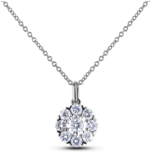 Image 1 for 0.33 Carat TW Canadian Diamond Halo Pendant in White Gold