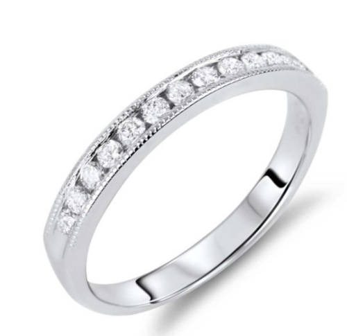 0.48 Carat TW Canadian Diamond Anniversary Ring in White Gold