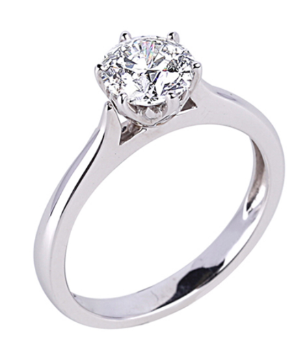 0.28 Carat Canadian Diamond Solitaire Engagement Ring in 18K White Gold