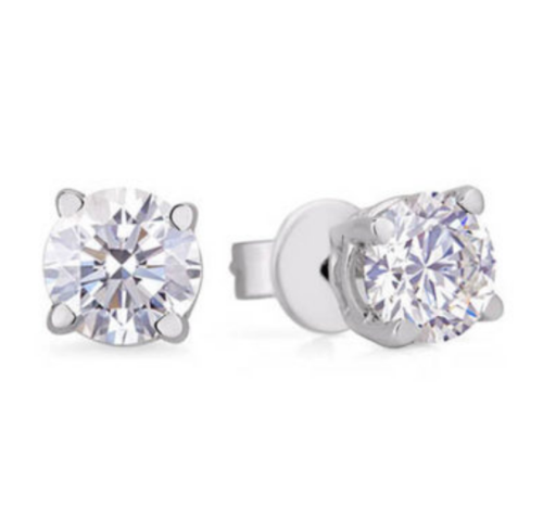 Image 1 for 1.60 Carat TW GIA Certified Diamond Studs Earrings in 14K White Gold