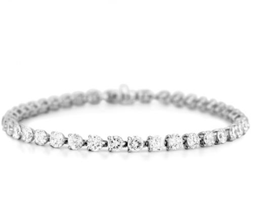 7.68 Carat TW Diamond Tennis Bracelet in White Gold