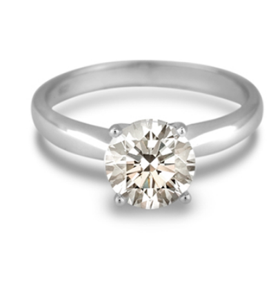 2.58 Carat Canadian Diamond Solitaire Engagement Ring in 14K White Gold