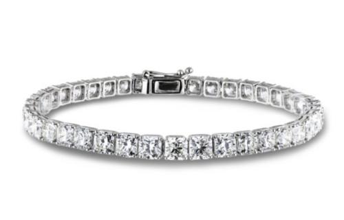 18.20 Carat TW Forevermark Diamond Tennis Bracelet in 18K White Gold