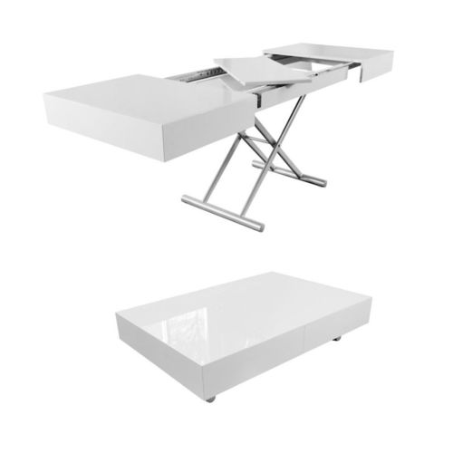 Image for Box Coffee to Dining Table - Glossy White