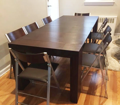 Junior Giant Table Console to Dining table - Walnut Wood